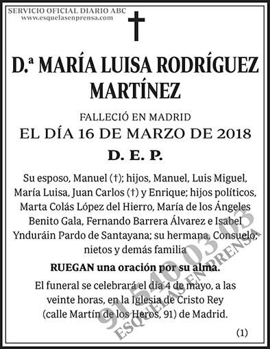 María Luisa Rodríguez Martínez
